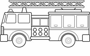 Coloriage de camions de pompiers
