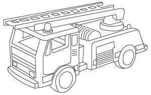 Coloriage De Camions De Pompiers Gratuit à Imprimer Pour Les