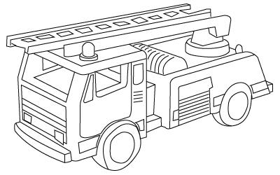 Coloriage De Camions De Pompiers Gratuit A Imprimer Pour Les Enfants
