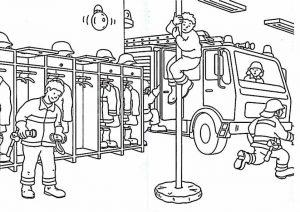 Coloriage de pompiers