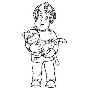 Coloriage de Sam le pompier