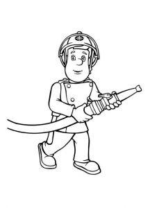 Coloriage De Sam Le Pompier Gratuit A Imprimer Pour Les Enfants